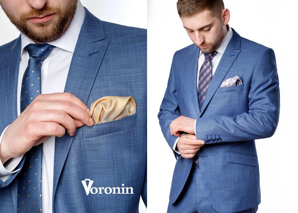b1622171b19405 Продовження нової колекція Voronin SPRING / SUMMER 2019 - синьо-блакитний  костюм Рінальдо2-Франт09