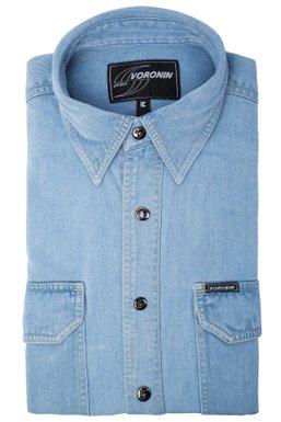 1c0f9b49552 Мужская джинсовая рубашка 08-02 (св   голубая)